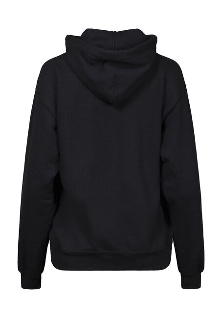Women's Happy Camper Hoodie, BLACK, hi-res