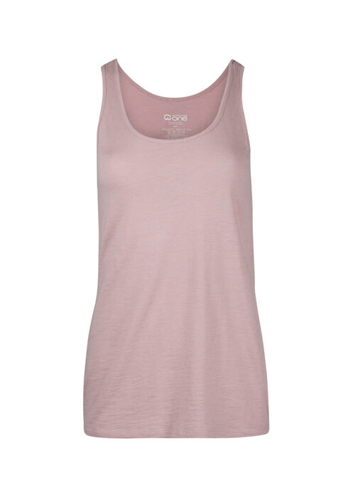 Ladies' Scoop Neck Tank, ROSEWATER, hi-res