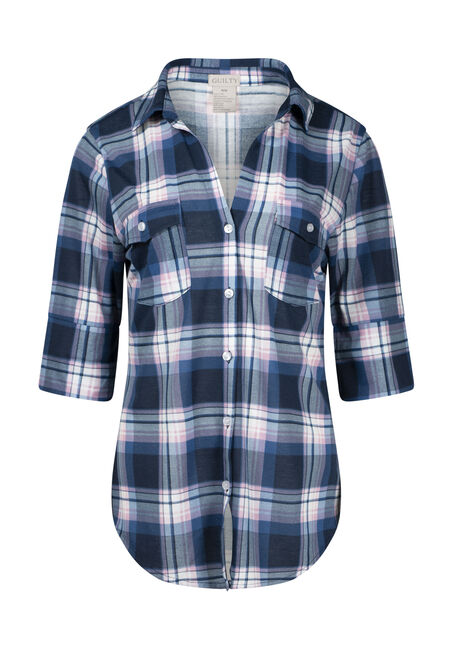 Women's 2-Pocket Plaid Shirt