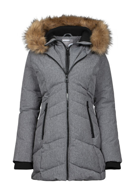 Women's Double Zip Quilted Parka