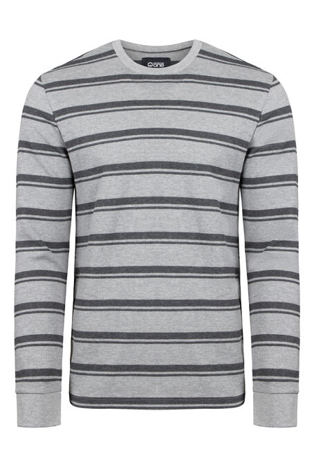 Men's Everday Striped Waffle Tee