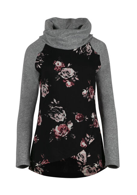 Ladies' Floral Cowl Neck Top