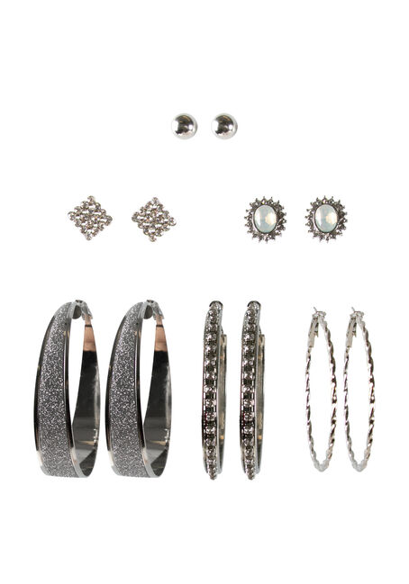 Ladies' 6 Pair Dressy Earring Set