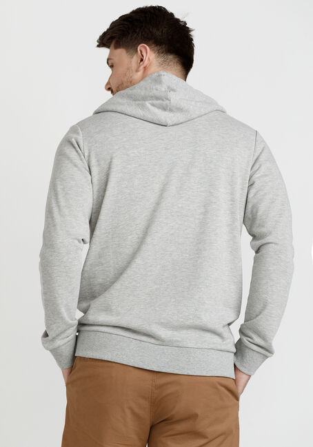 Men's Colourblock French Terry Popover, HEATHER GREY, hi-res