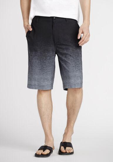 Men's Ombre Hybrid Short, BLACK, hi-res