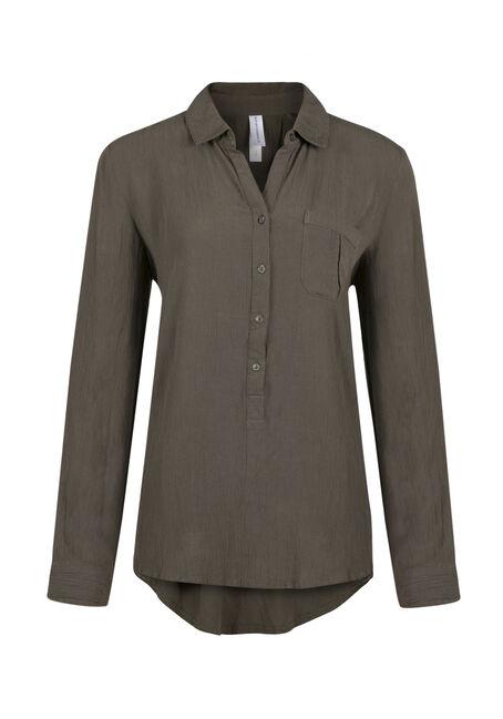 Ladies' Henley Crinkle Shirt