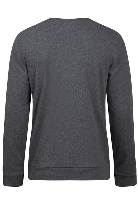 Men's Crew Neck Fleece, ASH, hi-res