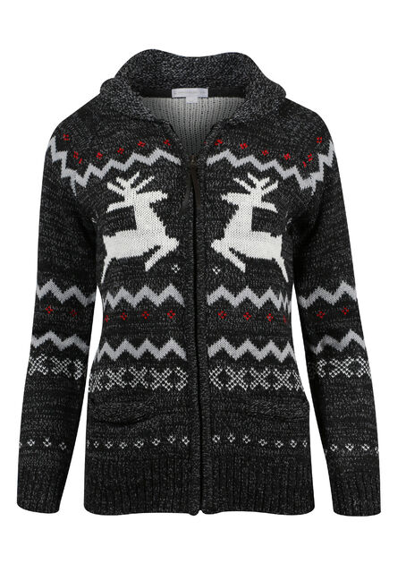 Ladies' Nordic Reindeer Cardigan