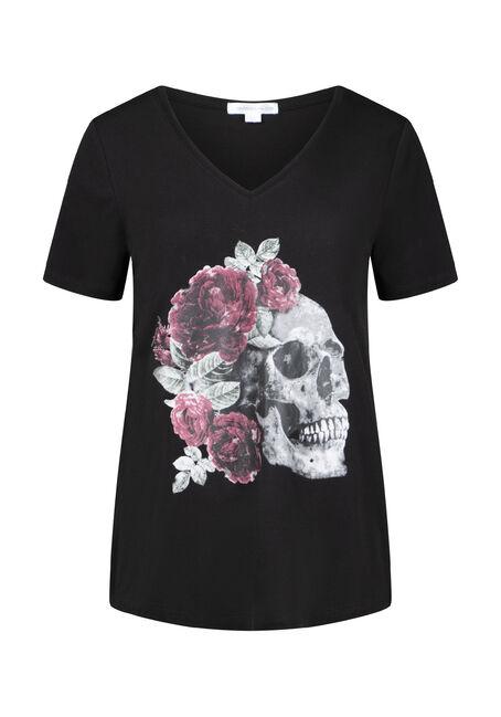 Women's Skull Drapey Tee