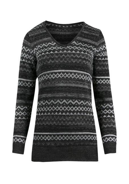 Ladies' Lurex Nordic Sweater