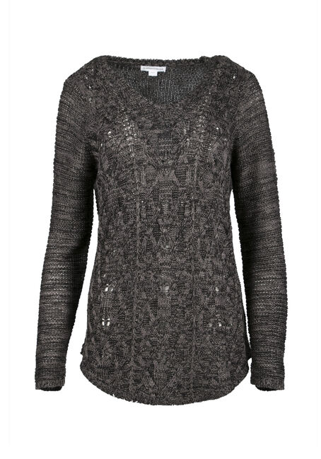 Ladies' Cable Knit Sweater