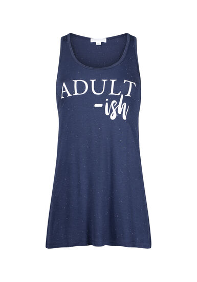 Women's Adult-ish Ruched Tank, ECLIPSE, hi-res