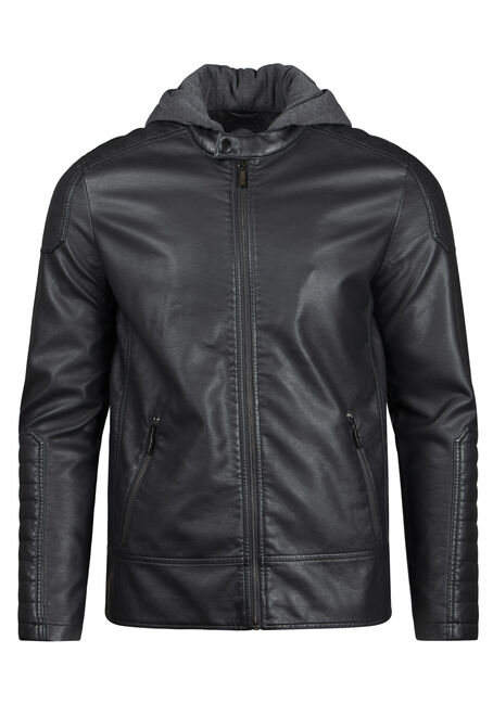 Men's Hooded Moto Jacket