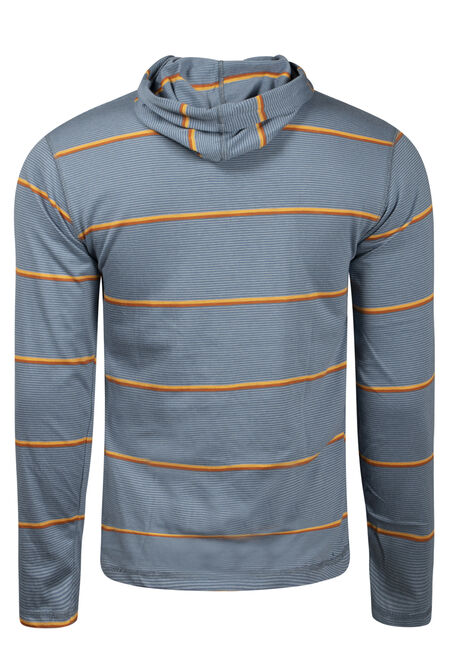 Men's Mini Stripe Hooded Tee, LAKE BLUE, hi-res