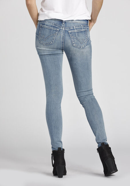 Ladies' Skinny Jeans, LIGHT WASH, hi-res