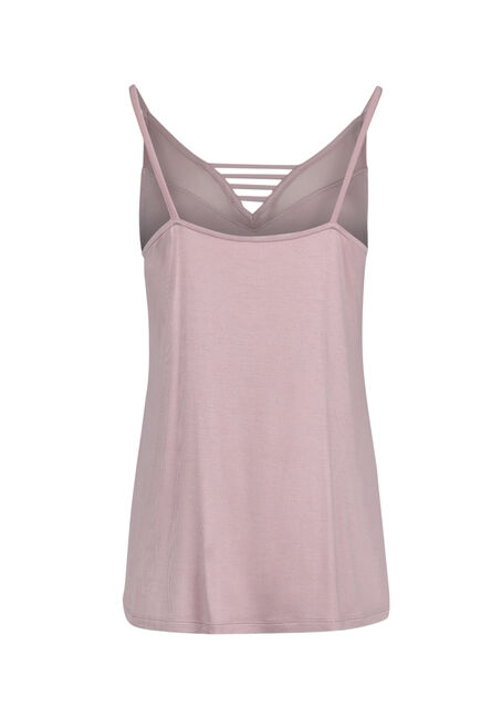 Ladies' Mesh Ladder Neck Tank, TICKLED PINK, hi-res