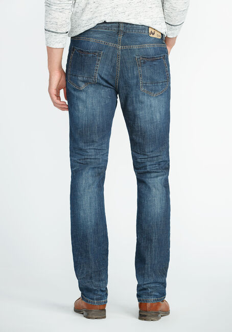 Men's Slim Fit Jeans, MEDIUM VINTAGE WASH, hi-res