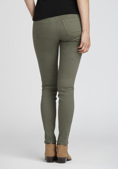 Ladies' Cargo Skinny Pants, OLIVE, hi-res