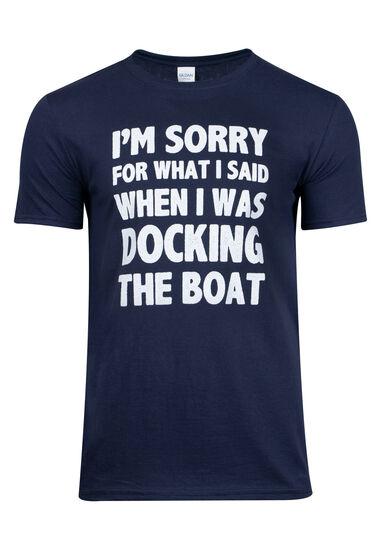Men's Boating Graphic Tee, NAVY, hi-res