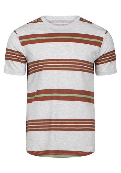 Men's Everday Striped Tee, ARABIAN SPICE, hi-res