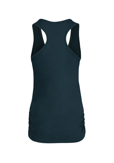 Ladies' Super Soft Ruched Tank, TEAL, hi-res