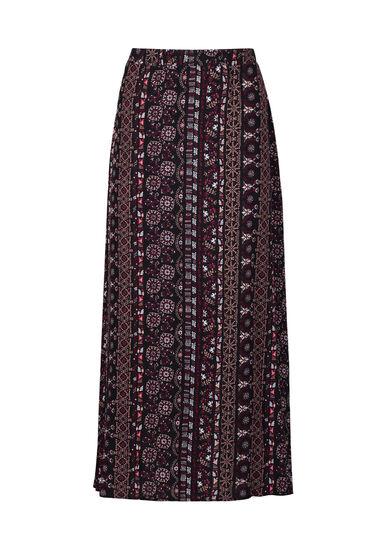 Women's Side Slit Maxi Skirt, MULTI, hi-res