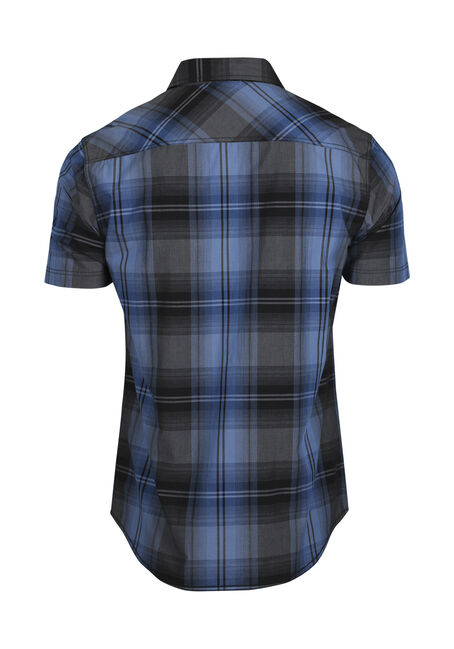 Men's Plaid Shrit, BRIGHT BLUE, hi-res