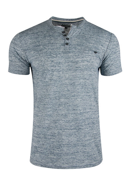 Men's Space Dye Henley