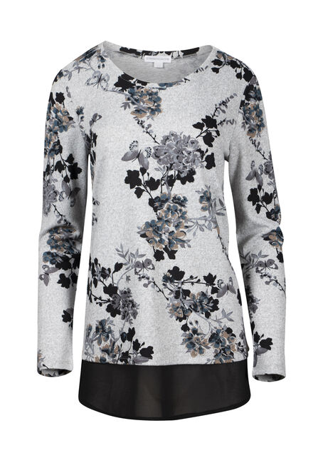 Women's Butterfly & Blossom Scoop Neck Top