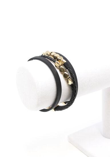 Women's Magnetic Wrap Bracelet, BLACK, hi-res