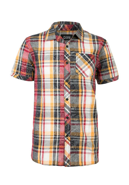 Men's Tropical Plaid Shirt