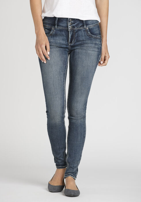 Women's Skinny Jeans, MEDIUM WASH, hi-res