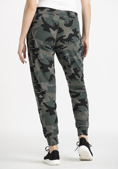 Women's Thermal Camo Jogger, OLIVE, hi-res