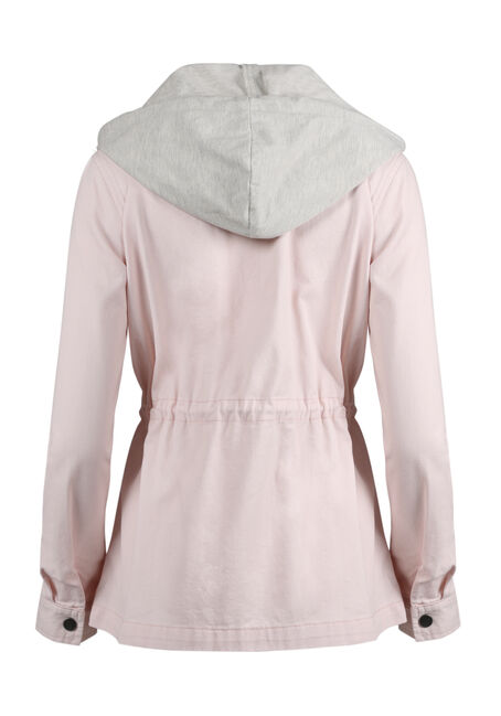 Women's Hooded Anorak Jacket, PINK, hi-res