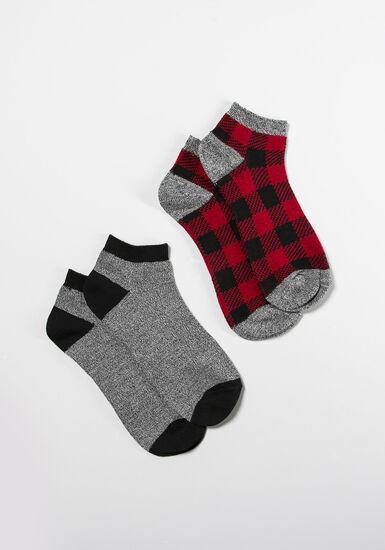 Women's 2 Pair Socks, MULTI, hi-res