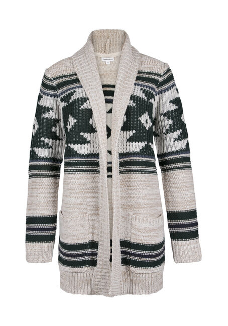 Ladies' Aztec Open Cardigan