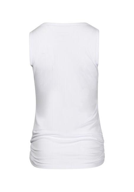 Women's V Neck Super Soft Tank, WHITE, hi-res