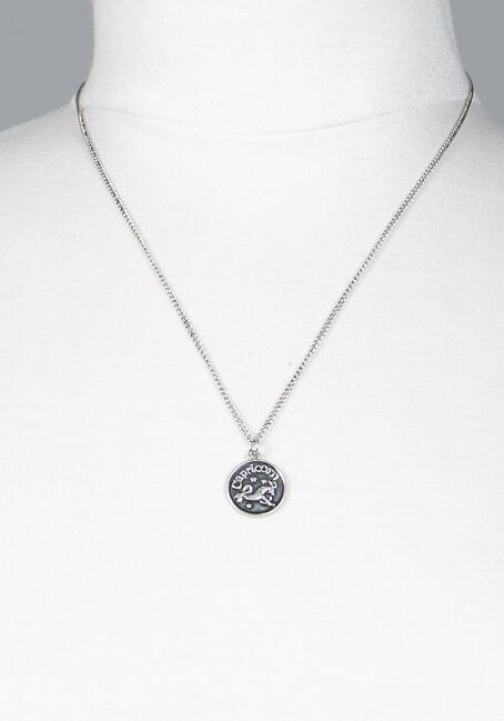 Capricorn Pendant Necklace, SILVER, hi-res
