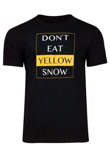 Men's Yellow Snow Tee, BLACK, hi-res