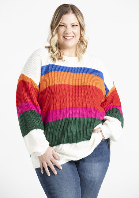 Womens' Colour Block Sweater