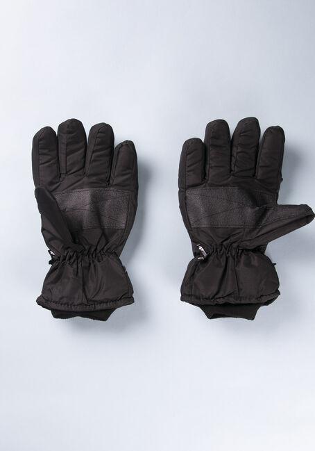 Men's Water Resistant Glove, BLACK, hi-res