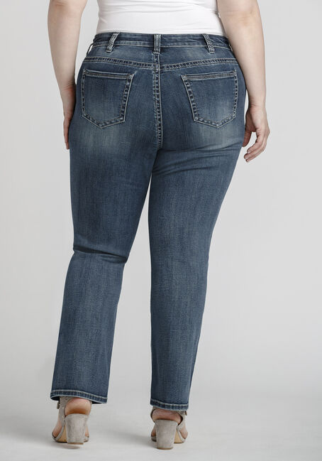 Women's Plus Size Mid Wash Baby Boot Jeans, MEDIUM WASH, hi-res