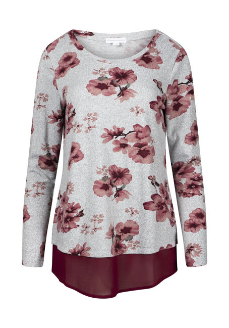 Women's Floral Scoop Neck Top