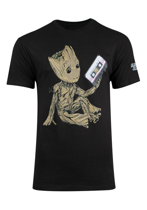 Men's Guardians Of The Galaxy Tee, BLACK, hi-res