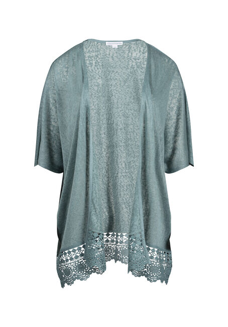 Women's Lace Hem Cardigan