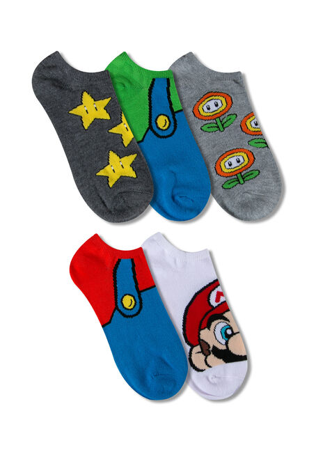 Women's 5 Pair Super Mario Socks