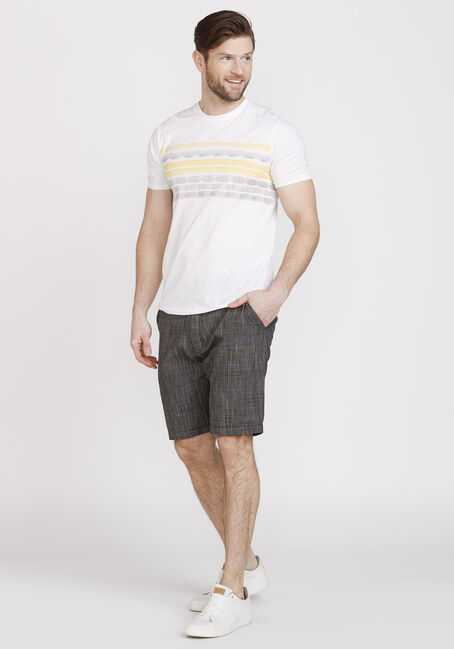 Men's Painted Stripe Everyday Crew Neck Tee, LEMON, hi-res