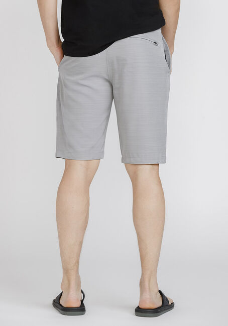 Men's Textured Hybrid Shorts, LIGHT GREY, hi-res