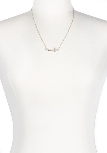 Ladies' Rhinestone Cross Necklace