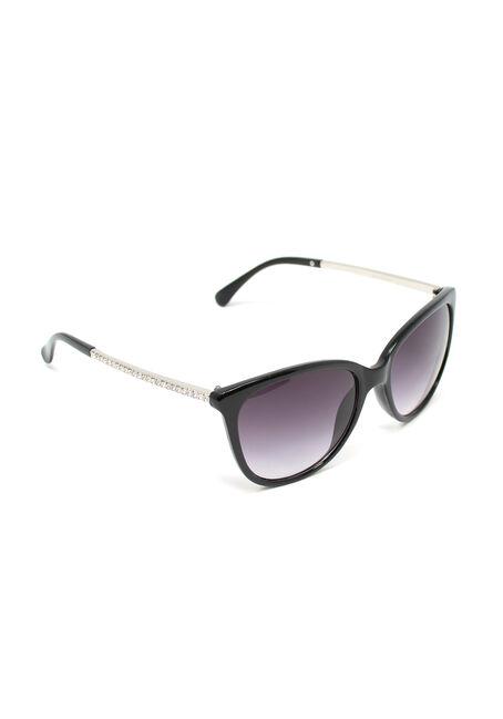 Women's Subtle Cat Eye Sunglasses, BLACK, hi-res